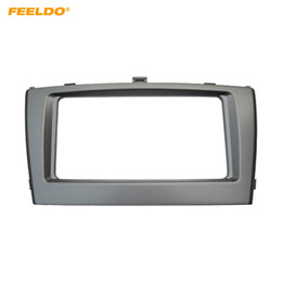 toyota audio adapter NZ - FEELDO 2DIN Car Radio Fascia Frame for Toyota Avensis 09-15 Audio Facia Panel Frame Dashboard Adapter Trim 202*102MM #4855