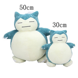 eco wood toys UK - 30 50cm Snorlax Plush Toys Cushion Stuffed Animal Lovely Super Soft Anime Plush Dolls Pillow Gift For Children Y19070103