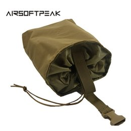 magazine dump pouch 2019 - AIRSOFTPEAK Molle Tactical Magazine Pouch DUMP Drop Pouches Bag Recovery Case For Hunting Folding Mag Recovery Dump Bags