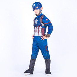 masquerade jackets UK - The Avengers Halloween Captain America Cosplay costume New children Masquerade Performance clothing christmas gift for children