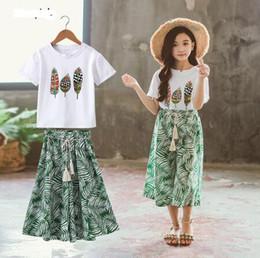 $enCountryForm.capitalKeyWord Australia - jimmybaby Summer Girls Clothes Sets Baby Girl Short Sleeve Shirt Top+Shorts Suits Kids Clothing Printed Children's Clothes 2pcs