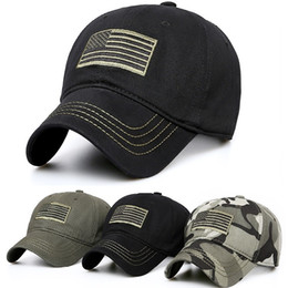 baseball cap patches Australia - USA American Flag Patch Camouflage Hat Military Tactical Operator Detachable Baseball Cap 3 Colors for choices