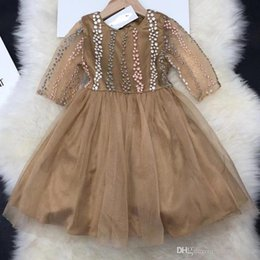 wholesale tutus Australia - New Size 100-160 2019 Brand New Girsl Long Sleeeve Dresses Sweet Lace Dress Baby Girl's Princess Dresses Children Best Sale Tutu Dresse