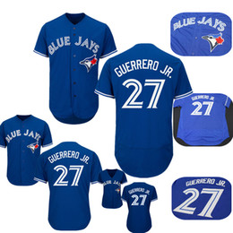 b52dbcae 27 Vladimir Guerrero Jr Jersey Men Toronto Blue Jays Baseball Jerseys Blue  Stitched
