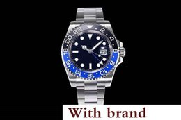 RotaRy Ring online shopping - Hot Luxury mens watches ln78200 watch green needle L steel GMT automatic mechanical watch movement twoway ceramic rotary ring