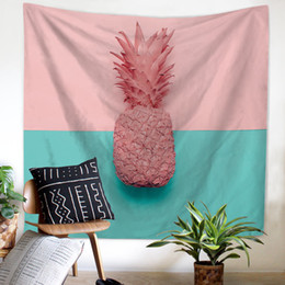 $enCountryForm.capitalKeyWord NZ - Pineapple Tapestries hanging cloth digital printing tapestry fresco curtain living room background wall Tropical scarf outdoor