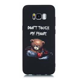 $enCountryForm.capitalKeyWord UK - For Samsung Galaxy S8 S8 Plus Case Back Cover Soft TPU Matte Painting Owl Feather formula Color dog Boxing Cat Easy bear