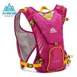 Red Rose Black Bag UK - AONIJIE E902 Hydration Pack Backpack Rucksack Bag Vest Harness Water Bladder Hiking Camping Running Marathon Race Sports 8L Rose #258092