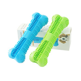 sport pet designs NZ - Pet Dog Toothbrush Silicone Dog Toys Bone Design Tooth Brushing Stick Safe Silicone Toothbrush Chew Toys