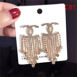 Turquoise chandelier earrings online shopping - Luxury fashion tassel pendant earrings l designer to create ladies elegant earrings alloy ear hooks