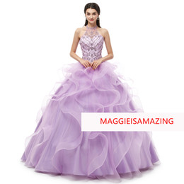 modern petticoat Australia - MAGGIEISAMAZING Wholesale REAL PICTURE sweetheart back lace up floor length Exposed Boning Quinceanera Dresses need petticoat CYH02019M01