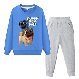 Girl Puppy Clothing Australia - 2019 Boys Spring Long Sleeve Sweatshirt+Pant Set Girls Casual Pullover Clothing Sets Children Puppy Dog Pals Tracksuits