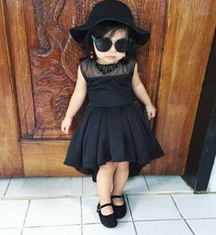 $enCountryForm.capitalKeyWord NZ - ins hot sale models baby girls style irregular dress baby short short lace cotton dress kids hilow summer dress