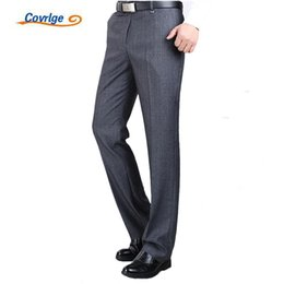 $enCountryForm.capitalKeyWord NZ - Covrlge Men's Suit Pants High Quality Men Dress Pants Silk Trousers Straight Business Mens Formal Pants Big Size 40 42 44 Mkx005 Y190422