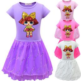 BaBy girl leopard tutus online shopping - Girls surprise Dress summer Cartoon Baby Princess Dress Kids Party Dress Baby Summer Casual Dresses KKA7078