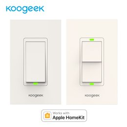 Control Lights Ios NZ - Koogeek Wifi Switch Light Switch for Apple HomeKit Siri Smart Remote Control Wall Monitor Power Consumption[Only for IOS]