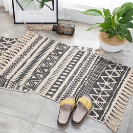 "Cotton Floor Rugs Australia - Creat Woven Indian Cotton Tribal Area Rug Floor Mat Boho Decorative Throw Gifts 23.6""*51.1 and 23.6""*35.4 two Size"