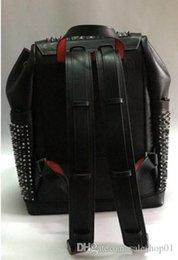 2019 top designer sacos pele laSmb Espiga com o cristal gira inferior packbag cor preta vermelha venda por atacado