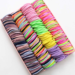 $enCountryForm.capitalKeyWord Australia - 100pcs lot 3CM Hair Accessories girls Rubber bands Scrunchy Elastic Hair Bands kids baby Headband decorations ties Gum for hair