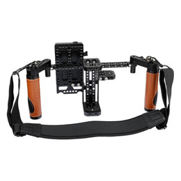 Camera grips handles online shopping - CAMVATE Camera Director s Monitor Cage Rig With Handle Grips Neck Strap