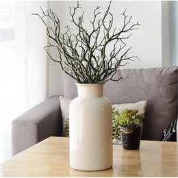 $enCountryForm.capitalKeyWord Australia - 10Pcs Artificial Tree Branch Wood White Plastic Small Tree Dried Branches Fake Plant for Wedding Party Home Decoration