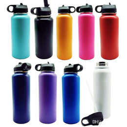 $enCountryForm.capitalKeyWord Australia - 18oz Vacuum water bottle Insulated 304 Stainless Steel Water Bottle Wide Mouth big capacity travel water bottles With Filp Lids