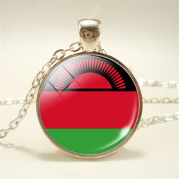 $enCountryForm.capitalKeyWord Canada - New Styles Punk Vintage Time Gem Glass Cabochon Malawi National Flag World Cup Football Fan Chain Pendants Necklace Women Men Choker Jewelry