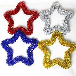 hanging star christmas decoration NZ - Pentagram Garland - Christmas Decoration Christmas Tree Hanging Star Pine Tinsel Garland Decoration Ornament
