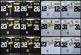 $enCountryForm.capitalKeyWord Australia - Vintage Pittsburgh 12 Terry Bradshaw Steelers 20 Rocky Bleier 23 Mike Wagner 26 Rod Woodson 31 Donnie Shell 32 Franco Harris Football Jersey