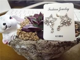 Jewelry Sets Rhinestone 925 Australia - cecmic crystal star geometric 925 silver clip earring finding cheap wholesale fashion earring jewelry set for woman
