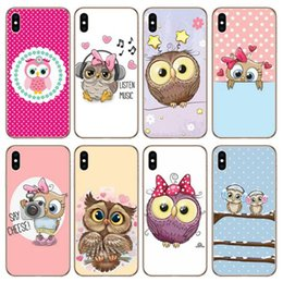 Cute 3d Animal Iphone Cases Australia - 3D Cartoon Cute Animal Owl Painting Soft Case for IPhone X XS MAX XR 8 7 6 6S Plus 6plus Cases Luxury Designer Soft Kawaii Back Cover