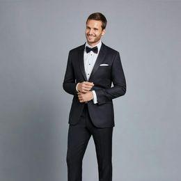 $enCountryForm.capitalKeyWord NZ - Formal Black Men Prom Tuxedo Suits Grooms Wedding Suits Man Blazer Costume Homme 2Piece Coat+Pants Evening Party Slim Fit Terno Masculino