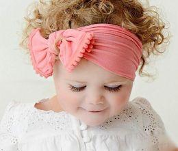 Hair Color Edges Australia - Baby headband 2019 hot selling Nylon hair band tooth edge ball hair decoration bow hairband factory supply