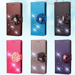 $enCountryForm.capitalKeyWord NZ - 3D Bling Diamond Leather Wallet Case For Sony XZ4 Redmi Note 7 Huawei Nova 4 Enjoy 9 Honor 8A Galaxy A8S J7 DUO Play Lucky Flower Flip Cover