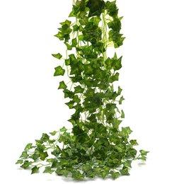 Toptan satış Ivy 85Ft 12 Strands Bırakır Yapay Sahte Asılı Asma Vines Bitki Yaprakları Garland Ev Bahçe Zehir Bırakır