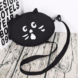 $enCountryForm.capitalKeyWord Australia - Oval Round Canvas Bag For Women Cloth Cartoon Small Round Crossbody Bag For Girl New Cute Cat Dog Female Party Handbag