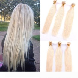 blonde colored hair Australia - Colored Brazilian Remy Human Hair Weave Straight 613# Blonde Human Hair 3 Bundles Cheap Brazilian Human Hair Extensions Deals Vendors