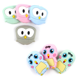 baby chicken toys Australia - 2019 FDA Approved Food Grade Cartoon Silicone Beads Mini Owl Baby Chicken Baby Teether BPA Free DIY Baby Teething Toys Cute Jewelry Diy