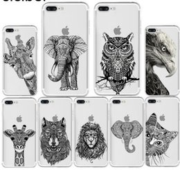 $enCountryForm.capitalKeyWord Australia - ciciber Totem Animal Elephant Owl Cat Pattern Design Soft Silicone Phone Cases Cover for Iphone 7 6 6S 8 Plus 5S SE X XR XS MAX