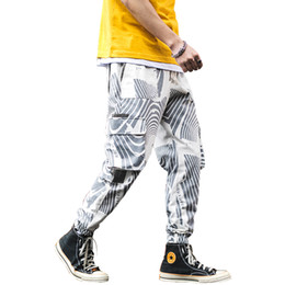 Chinese  2019 New Men Harem Pants Streetwear Fashion Printed Trousers Hip Hop Joggers Ankle-Length Pants drop shipping LBZ62 manufacturers