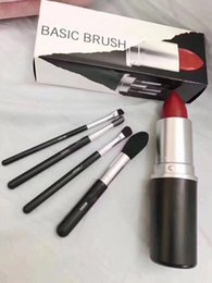 $enCountryForm.capitalKeyWord Australia - 2018 new Makeup Brand Look In A Box Basic Brush 4pcs set brushes set with Big Lipstick Shape Holder Makeup TOOLS good item