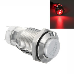 $enCountryForm.capitalKeyWord Australia - 12V 16mm Car Red LED Light Waterproof Momentary Horn Metal Push Button Switch