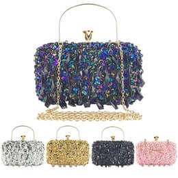 pink gold party decorations NZ - Women Sequin Decoration Clutches Evening Chain Crossbody Bags Party Handbag Fashion Womens Bags Wallet Clutch Evening Bag#g2 Y190626