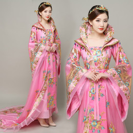 68a6e614ef Oriental Ancient Queen Dress Tang Dynasty Fairy Long Tailed Costume Empress  Clothing Traditional Princess Ancient China Royal Women Dress
