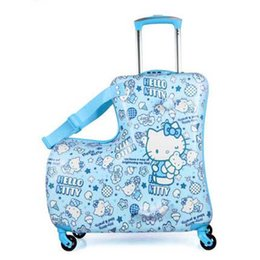 spinner pink Australia - LeTrend Fashion Cute Cartoon Children Rolling Luggage Spinner Suitcase Wheels Students Multifunction Trolley Kids Travel Bag