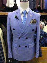 Ternos Slim Fit Suit Australia - 2019 plaid Men Suit Slim Fit 2 Pieces Tuxedo Groom Groomsman Custom men suits for wedding ternos para hombre kingsman blazer sets