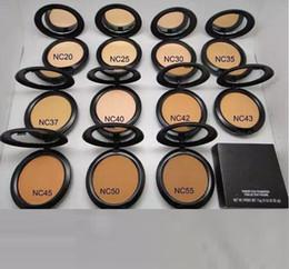 Venta al por mayor de Caliente del polvo de cara del maquillaje Powder Plus Base Prensado Mate Natural Maquillaje Facial en polvo fácil de usar 15g Todo NC 12 colores para chooes