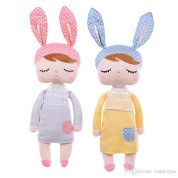 good girl baby toys UK - good Cute Metoo Doll Stuffed Toys Plush Animals Kids Toys for Girls Children Boys Kawaii Baby Plush Toys Cartoon Angela Rabbit Soft doll