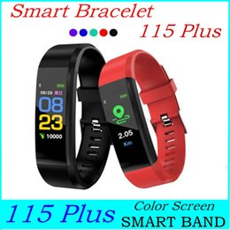 control id NZ - Color Screen 115 Plus Smart Bracelet Fitness Tracker Pedometer Watch Band Heart Rate Blood Pressure Monitor Smart Wristband ID 115 plus Band