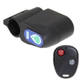 Antifurto Bike Lock Ciclismo Sicurezza Lock Telecomando senza fili Allarme di vibrazione Bicicletta Allarme blocco bicicletta LJJZ69